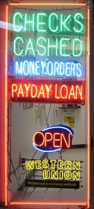 Pay Day Loan Sign